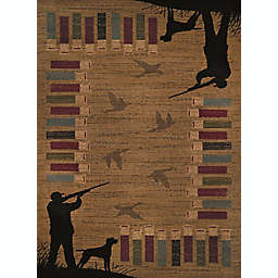 United Weavers Affinity Bird Shot Tufted Rug in Gold