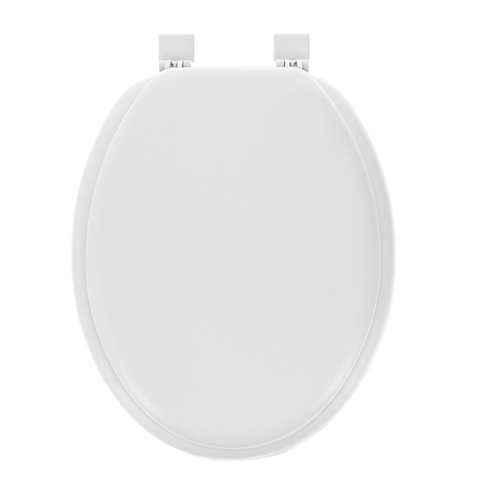 Alternate image 1 for Ginsey Elongated Soft Toilet Seat in Desert White