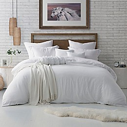 Swift Home Crinkle Pre-Washed Microfiber 3-Piece Duvet Cover Set