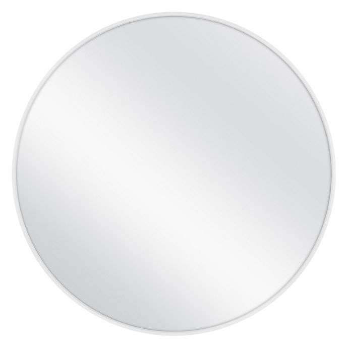 35 75 Inch Round Metal Wall Mirror, Round Silver Wall Mirror Metal