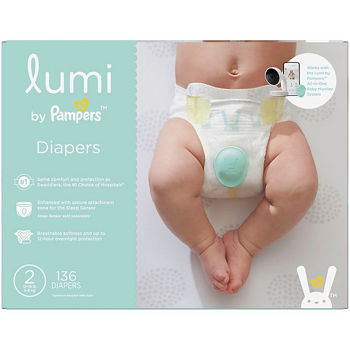 Alternate image 1 for Lumi by Pampers™ 136-Count Size 2 Enormous Pack Disposable Diapers