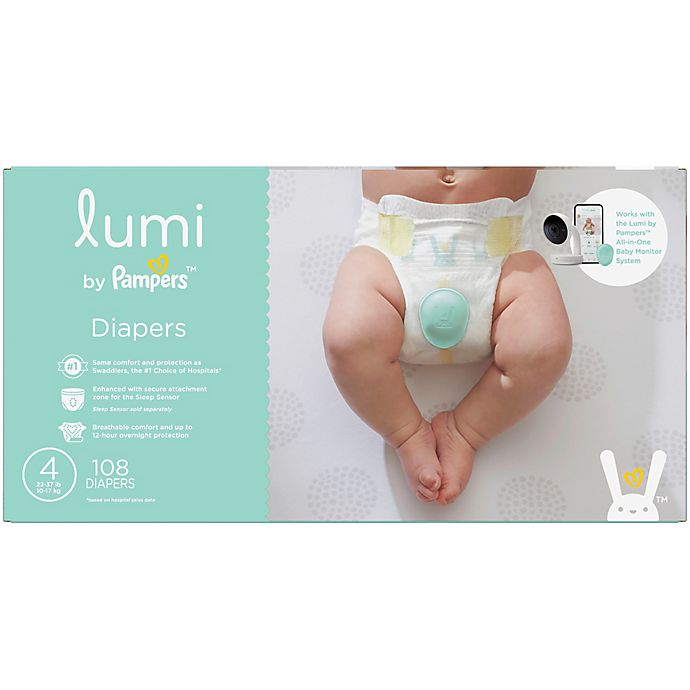 Alternate image 1 for Lumi by Pampers™ 108-Count Size 4 Enormous Pack Disposable Diapers