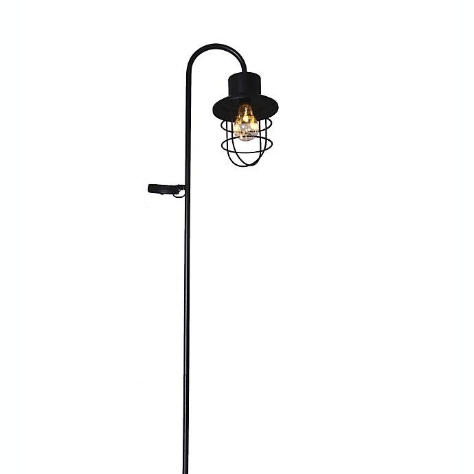 Alternate image 1 for Bee & Willow™ Home Solar Shephards Hook Garden Stake in Black