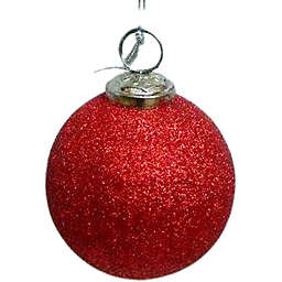 3-Inch Assorted Glitter Glass Ball Ornaments