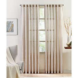 Colordrift Metallic Luxe Rod Pocket/Back Tab Light Filtering Window Curtain Panel