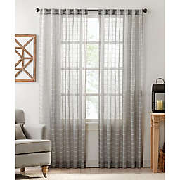 Colordrift Inez Stripe Rod Pocket/Back Tab Sheer Window Curtain Panel