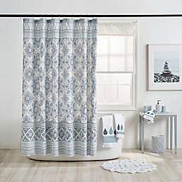 Capri 72-Inch x 72-Inch Medallion Shower Curtain in Blue