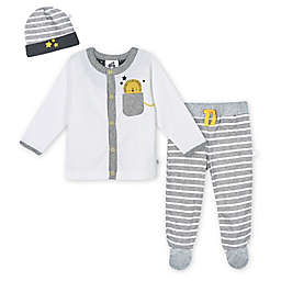Just Born® 3-Piece Lil' Lion Organic Cotton Take Me Home Set in Grey