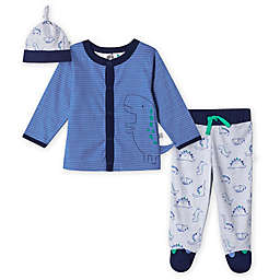 Just Born® 3-Piece Lil' Dino Organic Cotton Take Me Home Set in Blue