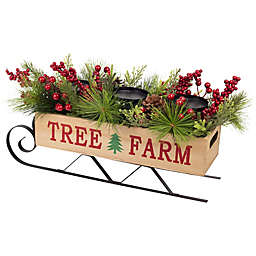 Tree Farm Sleigh Holiday Centerpiece