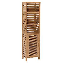 Linon Home Bracken Bamboo Tall Cabinet