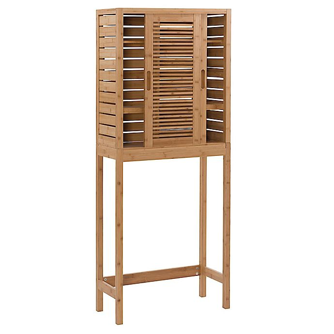 Alternate image 1 for Linon Home Over the Toilet Bracken Bamboo Space Saver