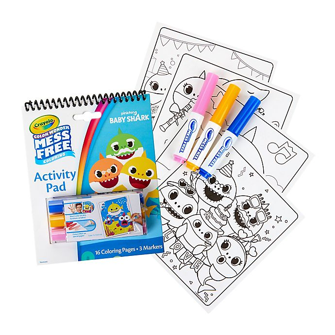 Alternate image 1 for Crayola® Color Wonder Baby Shark Activity Pad