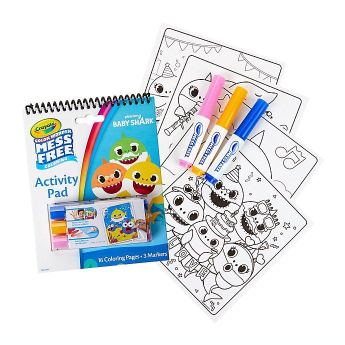 Alternate image 1 for Crayola® Color Wonder Baby Shark Activity Pad