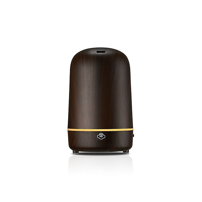 Alternate image 1 for Serene House® Light House Dark Wood Ultrasonic Diffuser