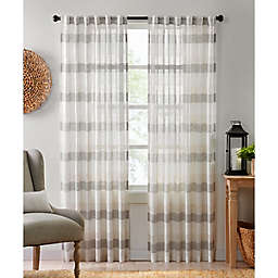 Colordrift Oakwood Rod Pocket/Back Tab Light Filtering Window Curtain Panel in Natural