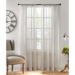 Fresno 108-Inch Rod Pocket Light Filtering Window Curtain Panel in Grey (Single)