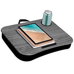 LapGear® Cup Holder Lap Desk in Grey Woodgrain