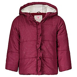 carter's® Sparkle Puffer Coat in Burgundy
