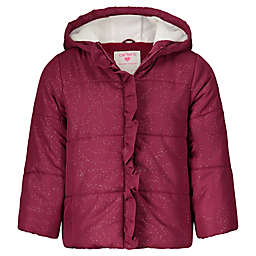 carter's® Sparkle Puffer Coat in Burgundy