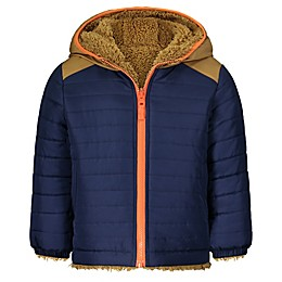 OshKosh B'gosh® Color Block Reversible Coat in Navy/Khaki