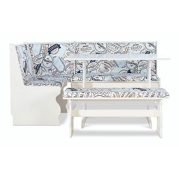 Alternate image 1 for Loren Pine Wood Upholstered Coffee Nook in White