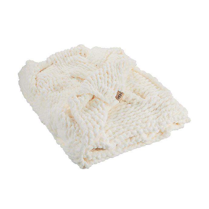 Alternate image 1 for UGG® Alonna Throw Blanket in Snow