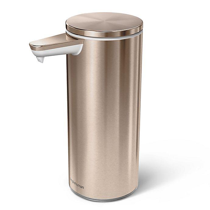 Alternate image 1 for simplehuman® Touchless Sensor Soap/Sanitizer Pump in Rose Gold