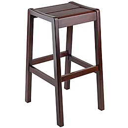 Winsome Alicante Concave Seat Bar Stool in Walnut Finish