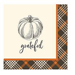 """Sugar Plum 32-Count Rustic Harvest """"Grateful"""" Lunch Napkins"""