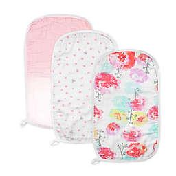 The Honest Company 3-Pack Rose & Dot Floral Organic Cotton Burp Cloths