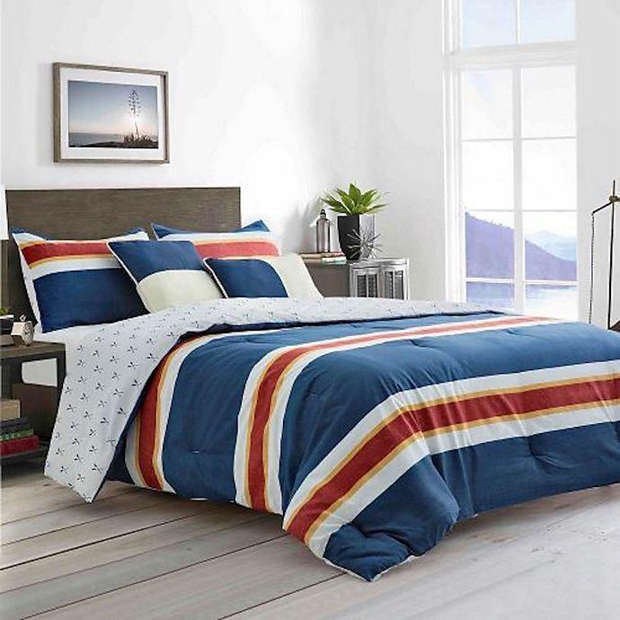 Alternate image 1 for Boston Traders® Adam 5-Piece Reversible Comforter Set