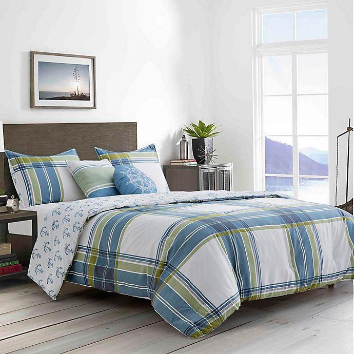 Alternate image 1 for Boston Traders® Charlie 5-Piece Full/Queen Comforter Set in Blue/Multi