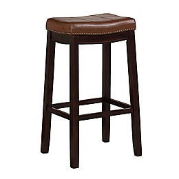 Westwood Faux Leather Bar Stool in Cognac