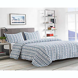 Boston Traders® Helena 3-Piece Reversible Full/Queen Quilt Set in Blue