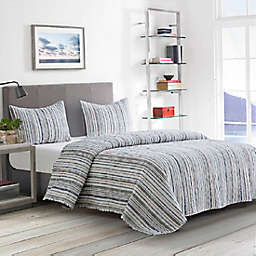Boston Traders® Pearson 3-Piece Reversible King Quilt Set in Grey
