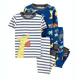 carter's® 4-Piece Giraffe Pajama Set in Blue