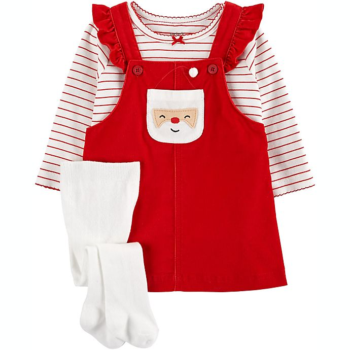 Alternate image 1 for carter's® 2-Piece Santa Bodysuit and Jumper Set in Red