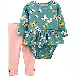 carter's® 2-Piece Peplum Bodysuit and Pant Set