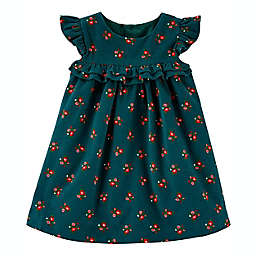 carter's® 2-Piece Floral Corduroy Dress and Diaper Cover Set in Green