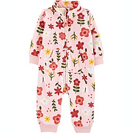 carter's® Floral Fleece Coverall in Pink