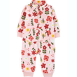 carter's® Newborn Floral Fleece Coverall in Pink