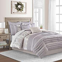 Kayser 8-Piece Reversible Full Comforter Set in Ochre