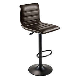 Winsome Trading Holly Adjustable Swivel Stool in Black/Espresso