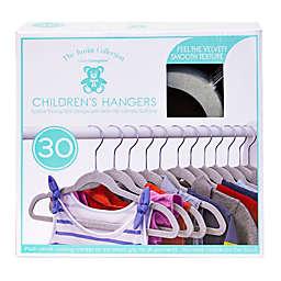 Closet Complete 30-Count Flocked Children's Hangers in Light Grey