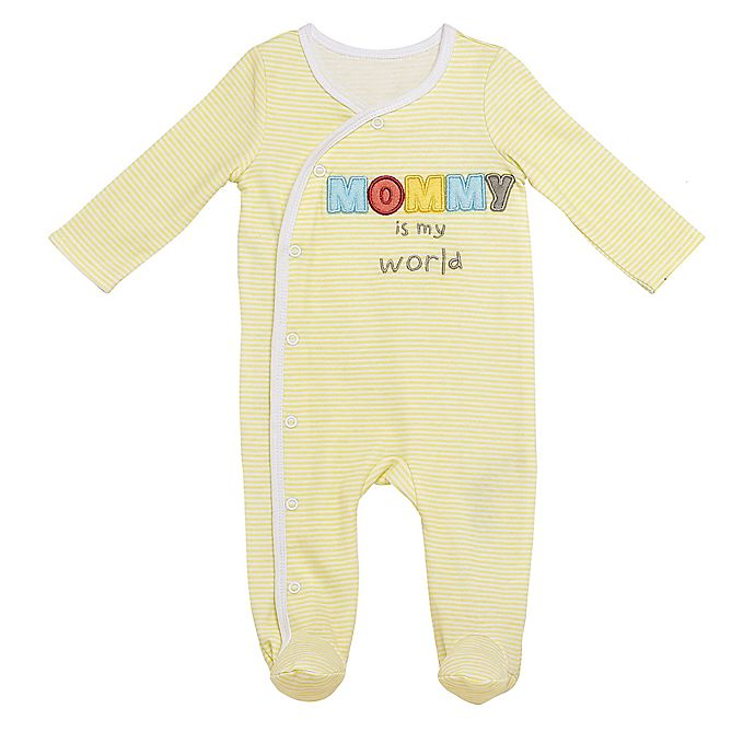 Alternate image 1 for Baby Starters® Mommy Sleep and Play Footie in Yellow