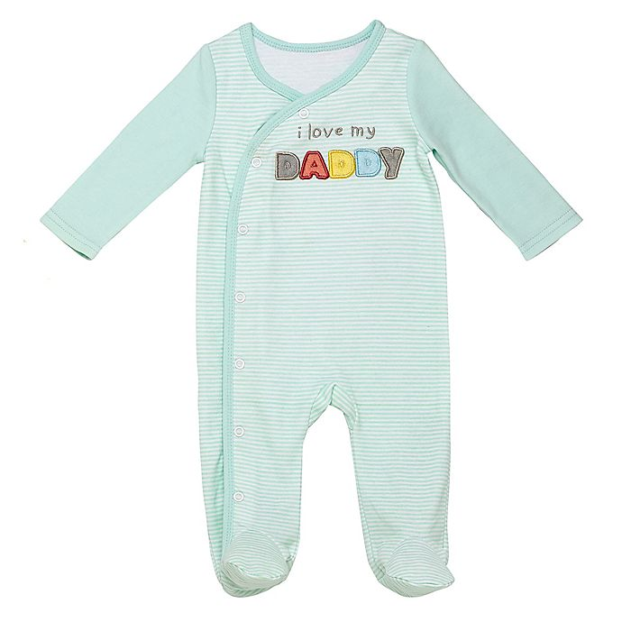 Alternate image 1 for Baby Starters® Daddy Sleep and Play Footie in Aqua
