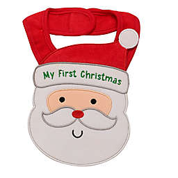 "Baby Starters® ""My First Christmas"" Embroidered Bib in Red"