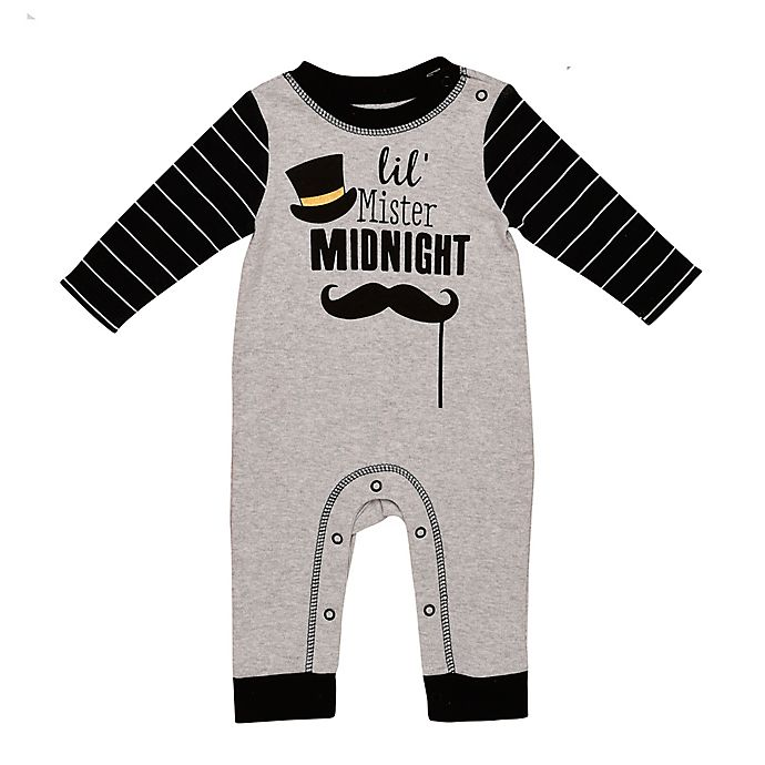 Alternate image 1 for Baby Starters® Mr. Midnight Coverall in Grey