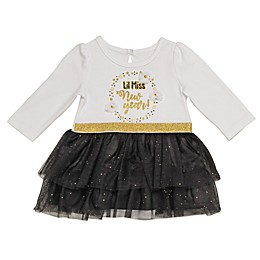 Baby Starters® Miss New Year Dress in White